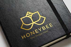 Honey Bee Logo - Flower Logo