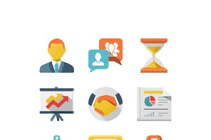 Business Flat Icon Set