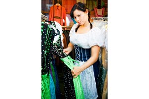 Young Woman Shopping For A Dirndl