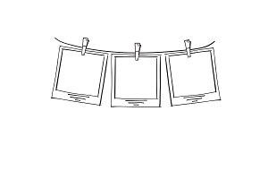 Doodle frames on rope