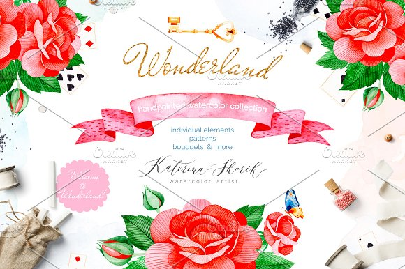 Wonderland Watercolor Collection