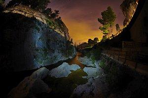Little lake at night
