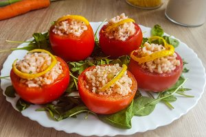 Tomato Stuffed  With Rice