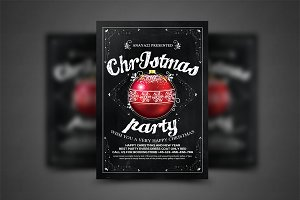 Christmas Party Flyer Celebration