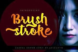 Brush Stroke + Bonus Font
