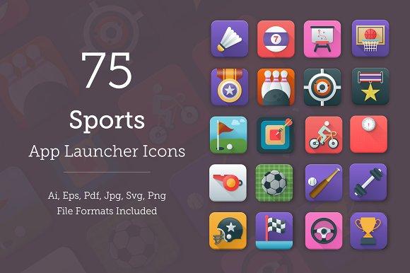 75 Sports App Icons