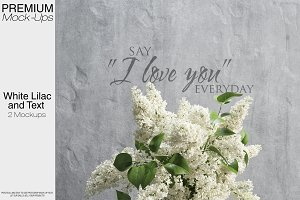 White Lilac - Text Mockup