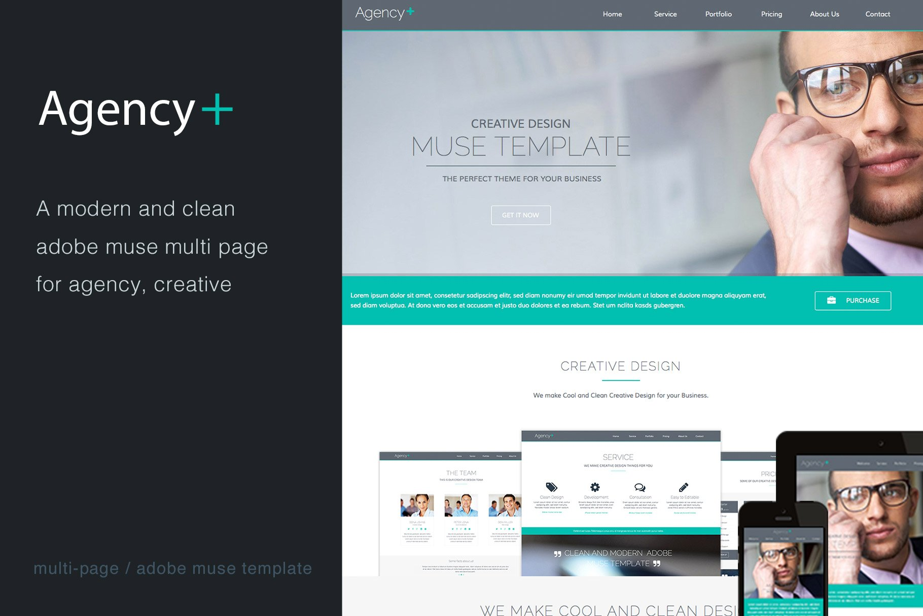 Agency+ - Multi-Page Muse Template - Website Templates | Creative ...