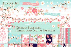 Cherry Blossom Flower Set