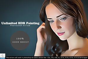 Unlimited HDR Oil Paint Action CC18+