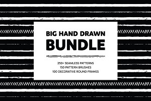 Hand Drawn Patterns & Brushes Bundle