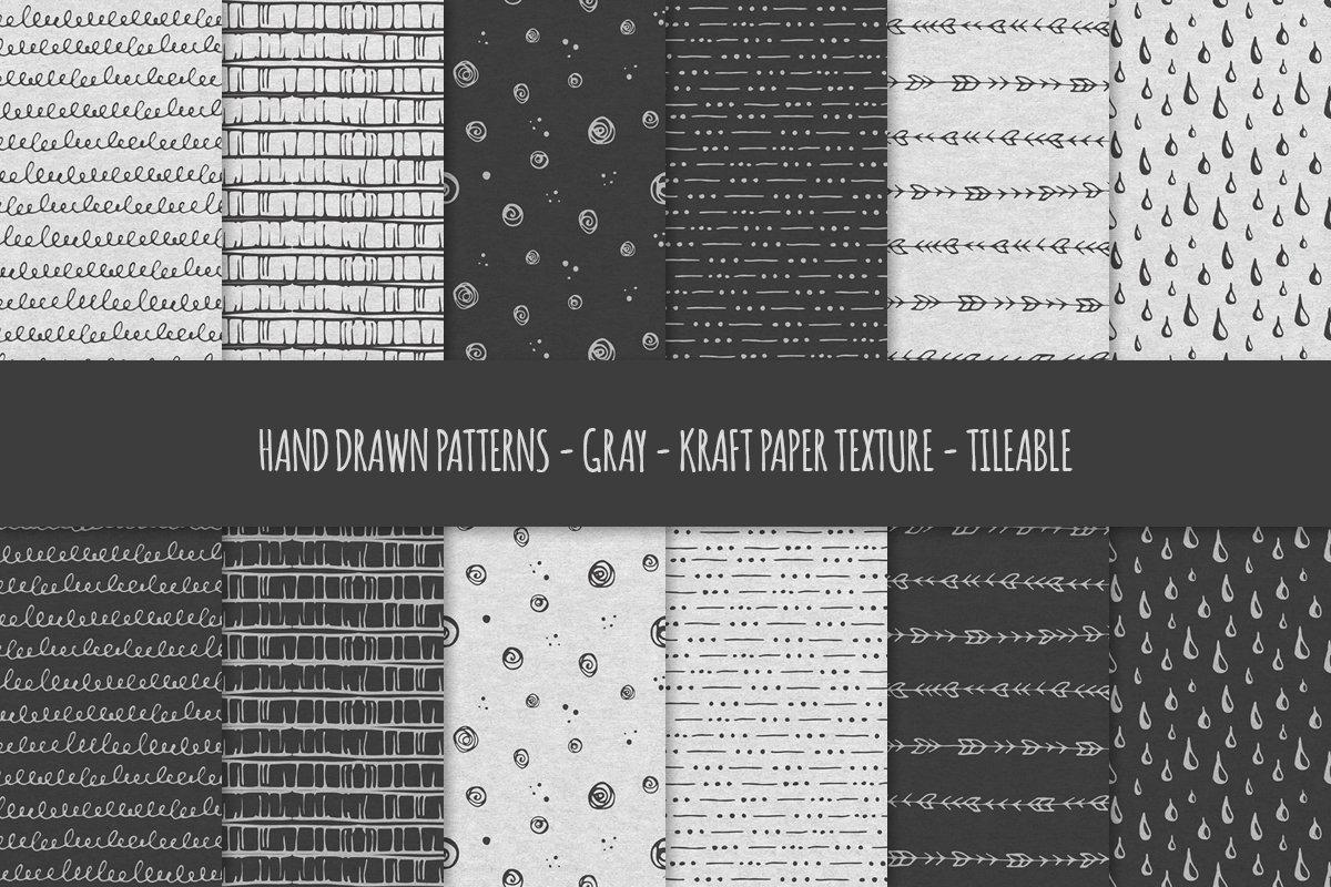 Hand Drawn Patterns & Brushes Bundle