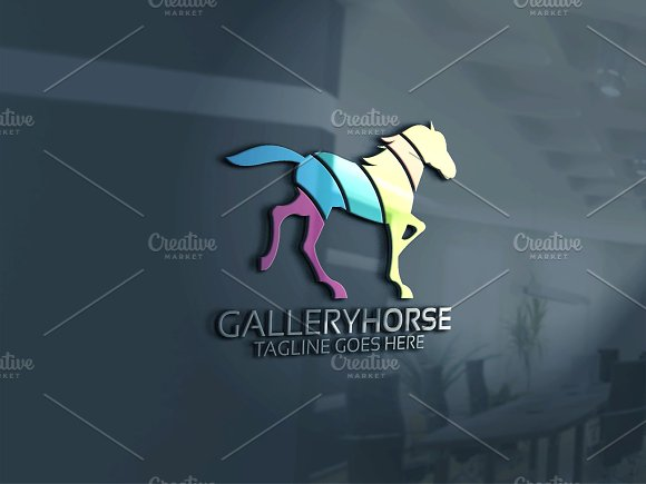 Horse Logo in Logo Templates - product preview 3