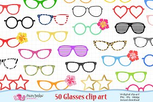50 Glasses clipart