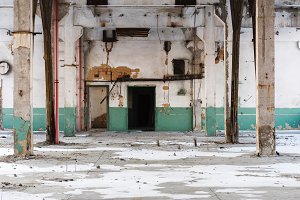 Abandoned room. The old warehouse. C