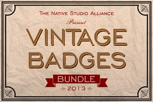 Vintage Badges Bundle 2013