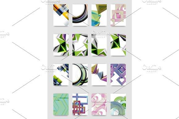 Set Of A4 Minimal Geometric Print Templates