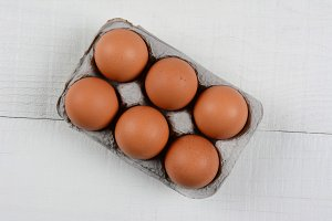 6 Pack Brown Eggs