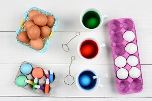 Dying Eggs for Easter