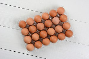 24 Pack of Brown Eggs