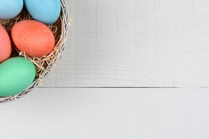 Easter Eggs in Corner