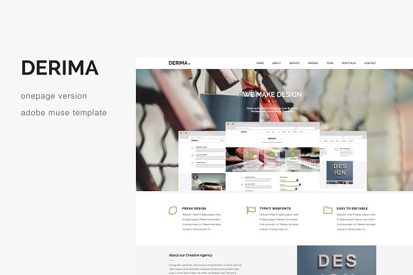 Derima One Page Muse Template
