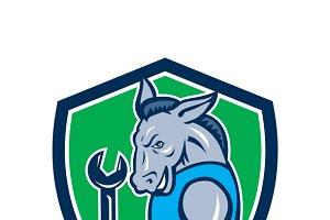 Donkey Mechanic Spanner Mascot Shiel