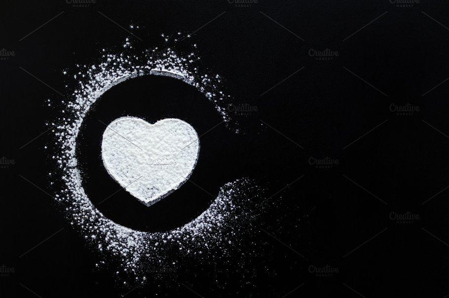Heart Love Symbol On Blackboard Food Images Creative Market