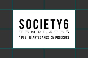 Society6 Product Templates