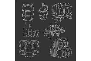 Wine Barrels Set