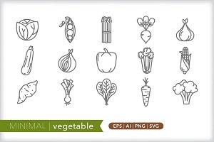 Minimal vegetable icons