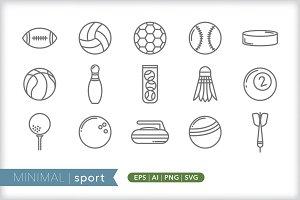 Minimal sport icons