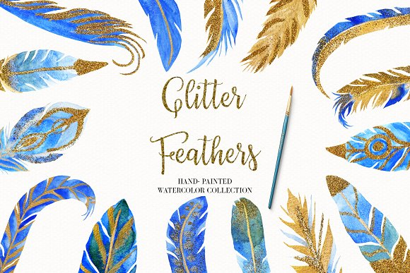 Watercolor Feather Illustration