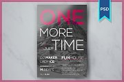 One More Time Party Flyer Template
