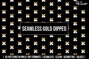 Seamless Gold Dipped Geometric 16