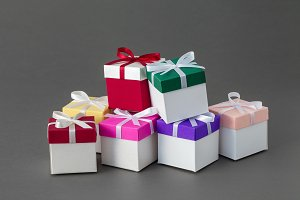 Several colorful gift boxes.