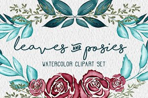 Leaves & Posies Watercolor Set
