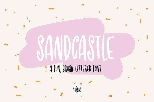 SANDCASTLE Hand Lettered Brush Font