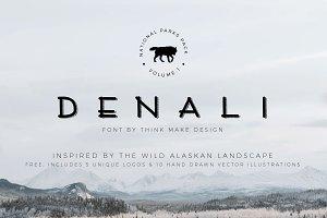 Denali Font, Illustrations, & Logos!