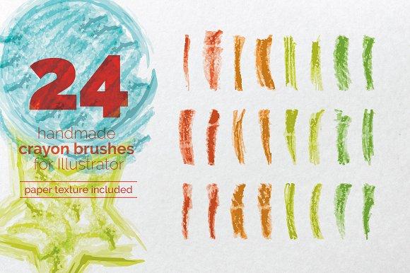 handmade crayon brush set brushes creative market
