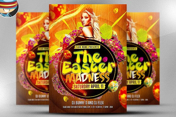 Easter Madness Party Flyer Template