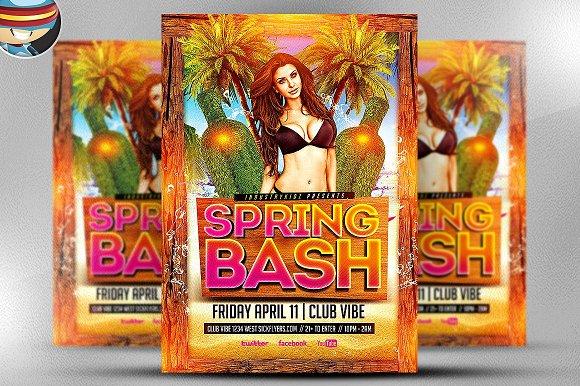 spring bash flyer template flyer templates creative market