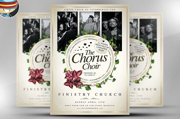 Chorus Choir PSD Flyer Template