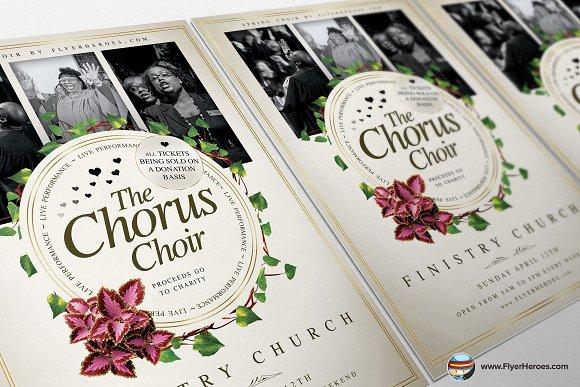 Chorus Choir Psd Flyer Template Flyer Templates Creative Market