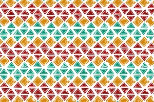 Colorful grunge ethnic pattern