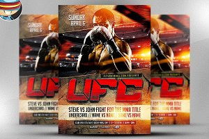 UFC Style Fight Night Flyer Template