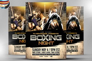 Boxing Night Flyer Template 2