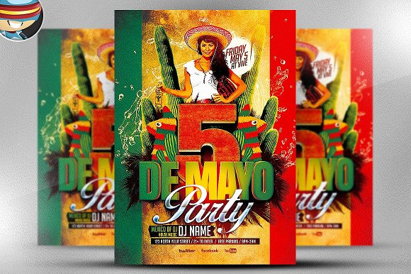 Mexican Party Flyer Template in Flyer Templates