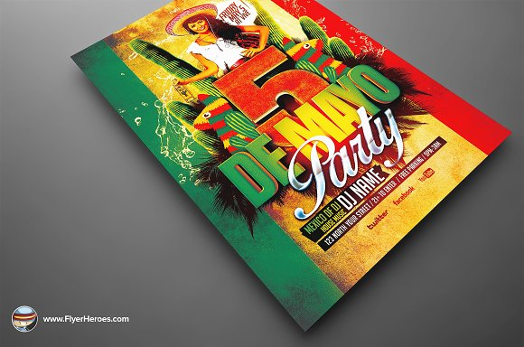 Mexican Party Flyer Template in Flyer Templates - product preview 3