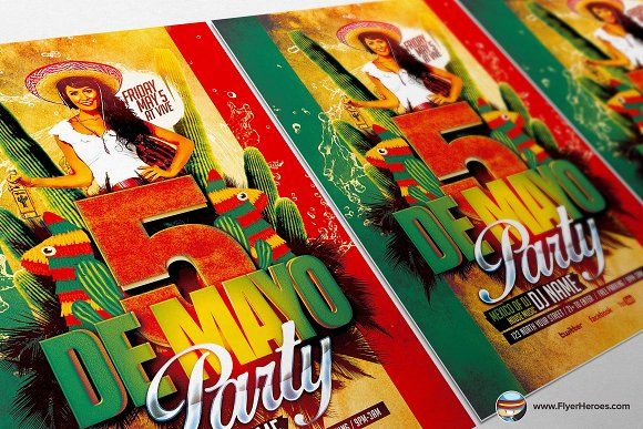 Mexican Party Flyer Template in Flyer Templates - product preview 1